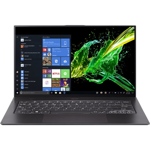 "Acer Swift 7 SF714 52T SF714 52T 70CE 14"" Touchscreen Notebook   Full HD   1920 X 1080   Intel Core I7 (8th Gen) I7 8500Y Dual Core (2 Core) 1.50 GHz   16 GB RAM   512 GB SSD   Black 300/500"
