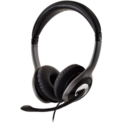 V7 Deluxe USB Stereo Headphones with Microphone