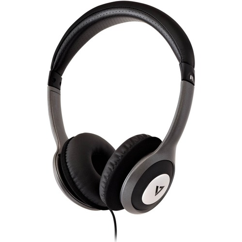 V7 Deluxe Stereo Headphones with Volume Control