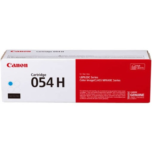 Canon 054H Original Toner Cartridge   Cyan 300/500