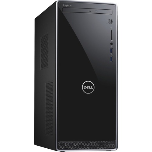Dell Inspiron 3670 Desktop Computer Intel Core i5 8GB RAM 1TB HDD Black - 9th Gen i5-9400 Hexa-core - Intel UHD Graphics 630 - Keyboard & Mouse included - DVD-Writer - Mini-tower Form Factor - Windows 10 Home
