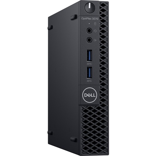 Dell OptiPlex 3000 3070 Desktop Computer - Intel Core i3 9th Gen i3-9100T 3.10 GHz - 8 GB RAM DDR4 SDRAM - 500 GB HDD - Micro PC