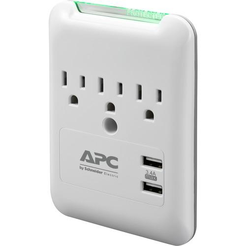 APC By Schneider Electric SurgeArrest Essential 3 Outlet Surge Suppressor/Protector 300/500