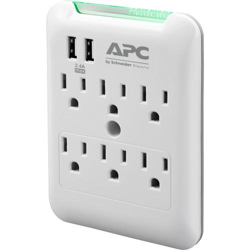 APC By Schneider Electric SurgeArrest Essential 6 Outlet Surge Suppressor/Protector 300/500
