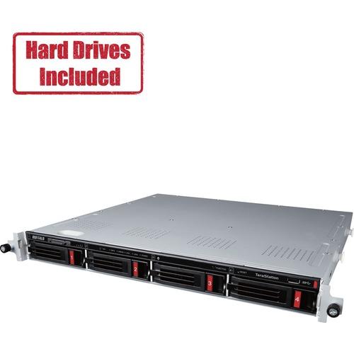 Buffalo TeraStation 3410RN Rackmount 8 TB NAS Hard Drives Included (2 x 4TB)