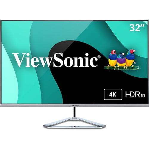 "Viewsonic VX3276-4K-MHD 31.5"" 4K UHD WLED LCD Monitor - 16:9 - Silver"