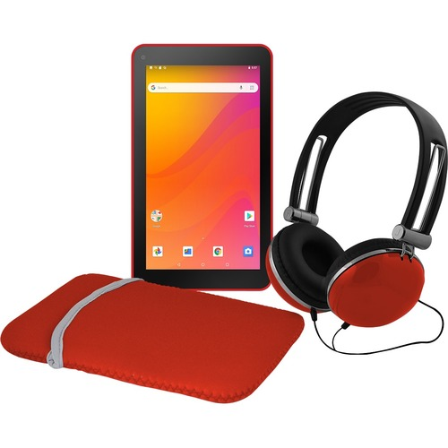 """Ematic EGQ378RD Tablet - 7"""" - Android 8.1 Oreo (Go Edition) - Red"""