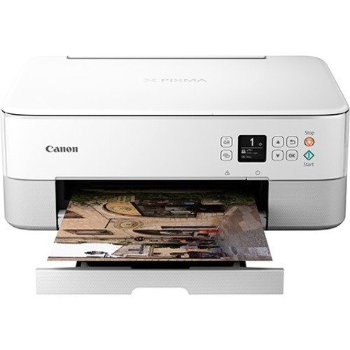 Canon PIXMA TS TS5320 White Inkjet Multifunction Printer - Color