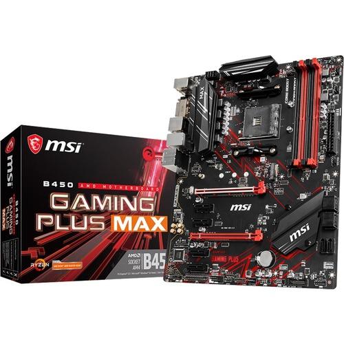 MSI B450 GAMING PLUS MAX Desktop Motherboard   AMD Chipset   Socket AM4   ATX 300/500