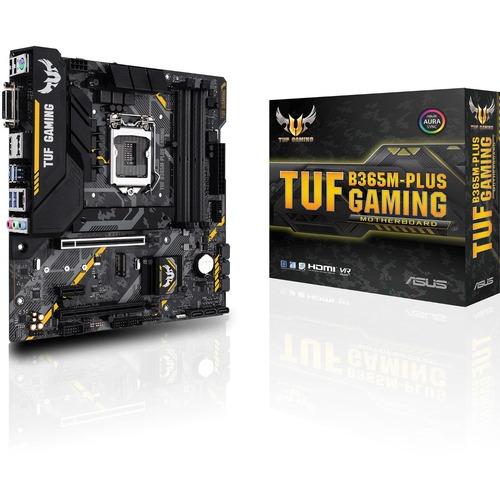TUF B365M PLUS GAMING Desktop Motherboard   Intel Chipset   Socket H4 LGA 1151   Intel Optane Memory Ready   Micro ATX 300/500