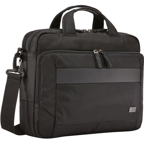 """Case Logic Carrying Case (Briefcase) for 14"""" Notebook, Tablet PC, Portable Electronics, Accessories - Black"""