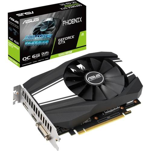 Asus Phoenix PH GTX1660S O6G GeForce GTX 1660 SUPER Graphic Card   6 GB GDDR6 300/500