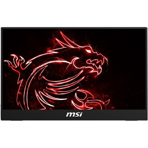 """MSI Optix MAG161V 15.6"""" Full HD LCD Portable Monitor   1920 X 1080 Full HD Display @ 60Hz   In Plane Switching (IPS) Technology   Only Weighs 2 Lbs For Portability   Designed For Gamers & Professionals   USB Type C & HDMI Connections 300/500"""