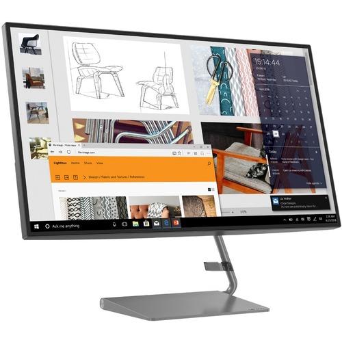 "Lenovo Q27h-10 27"" WQHD WLED LCD Monitor - 16:9 - Gray"