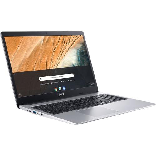 "Acer 315 15.6"" Chromebook Intel Celeron N4020 4GB RAM 32GB eMMC Pure Silver - Intel Celeron N4020 Dual-core - Intel UHD Graphics 600 - Built-in Webcam & Microphone - Chrome OS - 12.5 hr battery life"