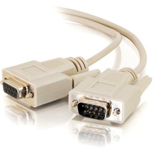 C2G 25ft DB9 M/F Extension Cable - Beige
