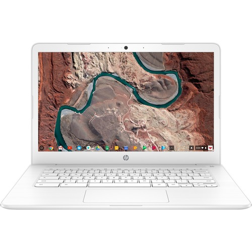 "HP 14 14"" Chromebook Intel Celeron N3350 4GB RAM 32GB EMMC Snow White   Intel Celeron N3350 Dual Core   Intel HD Graphics 500   USB 3.1 Connector   Chrome OS   11 Hr 30 Min Battery Life 300/500"