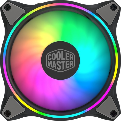 Cooler Master MasterFan MF120 Halo Duo Ring Addressable RGB Lighting 120mm Fan With Independently Controlled LEDs, Absorbing Rubber Pads, PWM Static Pressure For Computer Case & Liquid Radiator 300/500