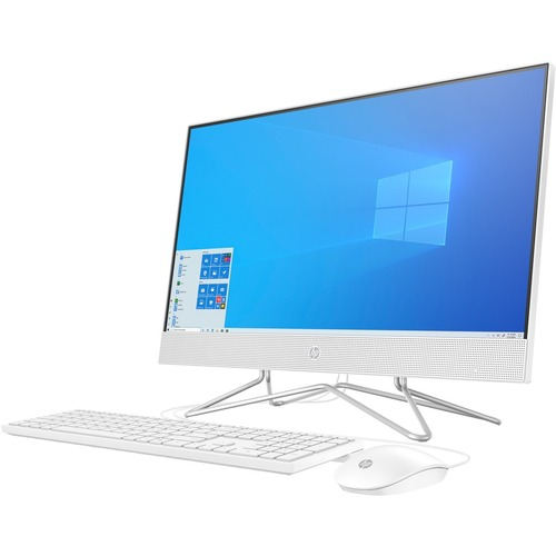 "HP 24 Series 23.8"" All-in-One Desktop Computer Intel Core i5 12GB RAM 512GB SSD Snow White - 10th Gen i5-1035G1 Quad-core - USB Wired Keyboard & Mouse included - 3-in-1 Memory Card Reader - DVD-Writer - Windows 10 Home"