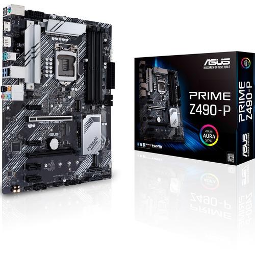 Asus Prime Z490 P Desktop Motherboard   Intel Chipset   Socket LGA 1200 300/500
