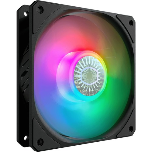 Cooler Master SickleFlow 120 V2 ARGB 120mm Square Frame Fan, Customizable LEDs, Air Balance Curve Blade Design, Sealed Bearing, PWM Control for Computer Case & Liquid Radiator
