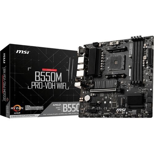 MSI B550M PRO VDH WIFI Desktop Motherboard   AMD Chipset   Socket AM4   Micro ATX 300/500