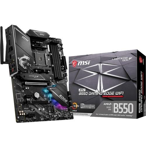 MSI MPG B550 GAMING EDGE WIFI Desktop Motherboard   AMD Chipset   Socket AM4   ATX 300/500