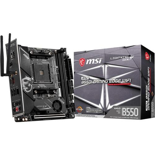 MSI MPG B550I GAMING EDGE WIFI Desktop Motherboard   AMD Chipset   Socket AM4   Mini ITX 300/500