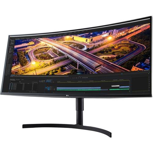 "LG Ultrawide 38BN75C-B 38"" UW-QHD+ Curved Screen LCD Monitor - 21:9 - High Glossy Black, Silver Spray"