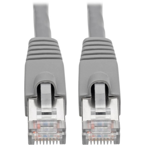 Tripp Lite Cat6a Ethernet Cable 10G STP Snagless Shielded PoE M/M Gray 2ft 300/500