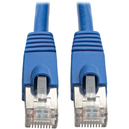 Tripp Lite Cat6a Ethernet Cable 10G STP Snagless Shielded PoE M/M Blue 15ft 300/500