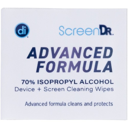 Digital Innovations Screen Dr Advanced Formula (70% Alcohol)Wet Wipes W/ Micofiber Cloth 120 Ct 300/500