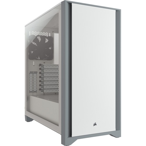 Corsair 4000D Tempered Glass Mid-Tower ATX Case - White