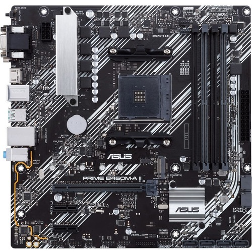 Asus Prime B450M A II Desktop Motherboard   AMD Chipset   Socket AM4   Micro ATX 300/500