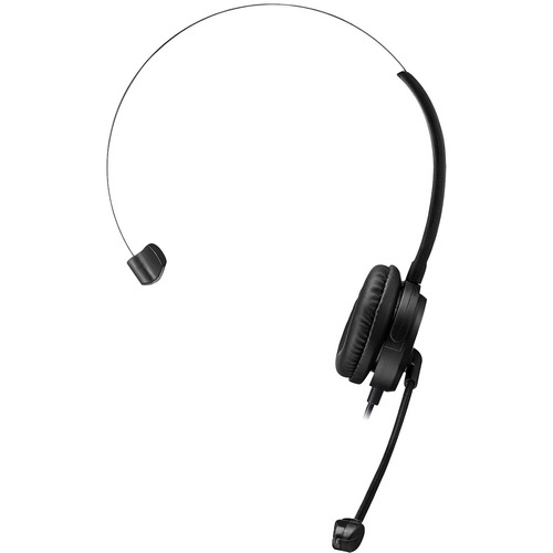 Adesso USB Single-Sided Headset with Adjustable Microphone- Noise Cancelling- Mono - USB - Wired - Over-the-head - 6 ft Cable -, Omni-directional Microphone - Black