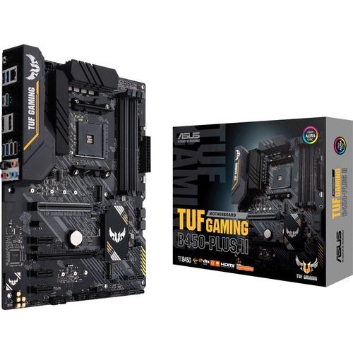TUF GAMING B450 PLUS II Desktop Motherboard   AMD Chipset   Socket AM4   ATX 300/500