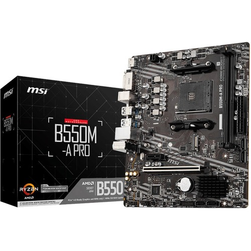 MSI B550M A PRO MATX Motherboard DVI, HDMI 300/500