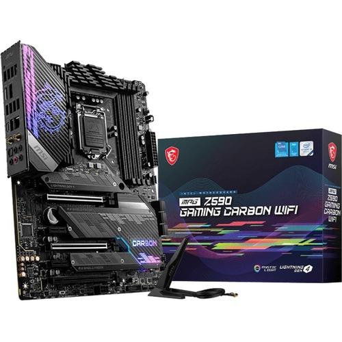 MSI MPG Z590 GAMING CARBON WIFI Desktop Motherboard   Intel Chipset   Socket LGA 1200   Intel Optane Memory Ready   ATX 300/500