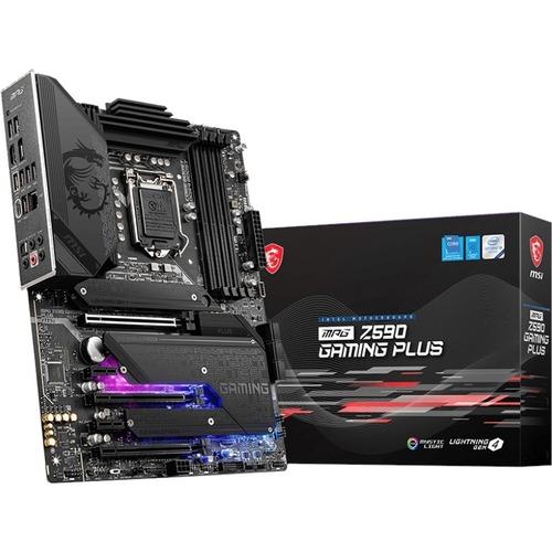 MSI MPG Z590 GAMING PLUS Desktop Motherboard   Intel Chipset   Socket LGA 1200   Intel Optane Memory Ready   ATX 300/500