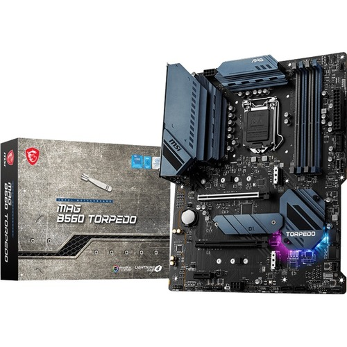 MSI MAG B560 TORPEDO Desktop Motherboard - Intel Chipset - Socket LGA-1200 - Intel Optane Memory Ready - ATX
