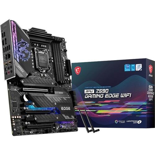 MSI MPG Z590 GAMING EDGE WIFI Desktop Motherboard   Intel Chipset   Socket LGA 1200   Intel Optane Memory Ready   ATX 300/500