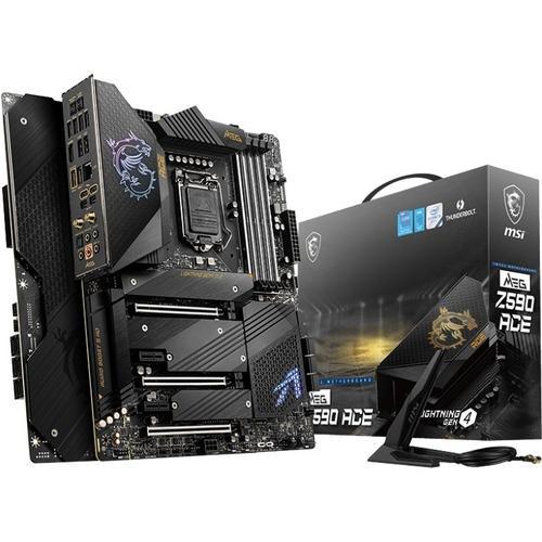 MSI MEG Z590 ACE Desktop Motherboard   Intel Chipset   Socket LGA 1200   Intel Optane Memory Ready   ATX 300/500