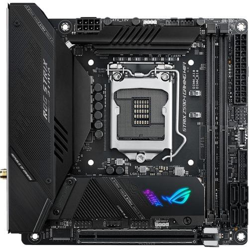Asus ROG Strix Z590 I GAMING WIFI Desktop Motherboard   Intel Chipset   Socket LGA 1200   Intel Optane Memory Ready   Mini ITX 300/500