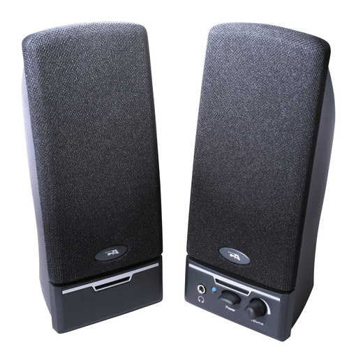 Cyber Acoustics CA-2014rb 2.0 Speaker System - 4 W RMS - Black