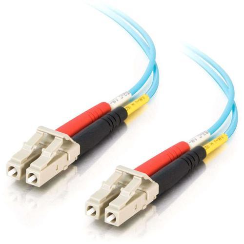 C2G 1m LC-LC 10Gb 50/125 Duplex Multimode OM3 Fiber Cable -Aqua- 3ft
