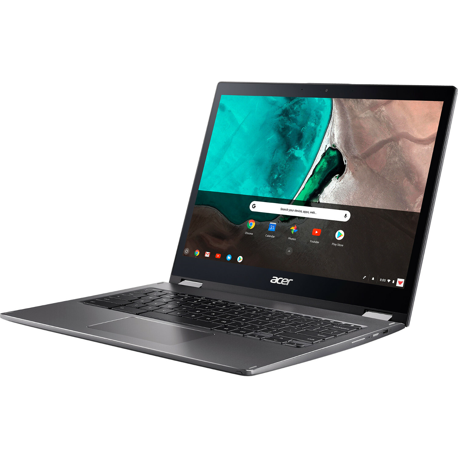 "Acer Chromebook Spin 13 CP713 1WN CP713 1WN 385L 13.5"" Touchscreen 2 In 1 Chromebook   2256 X 1504   Intel Core I3 (8th Gen) I3 8130U Dual Core (2 Core) 2.20 GHz   8 GB RAM   64 GB Flash Memory   Gray Alternate-Image1"