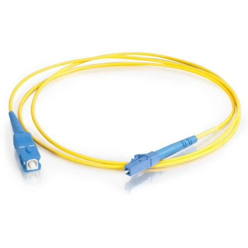 C2G 2m LC SC 9/125 OS1 Simplex Singlemode PVC Fiber Optic Cable   Yellow Alternate-Image1/500