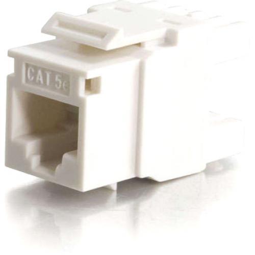 C2G Cat5E RJ45 UTP Keystone Jack   White Alternate-Image1/500