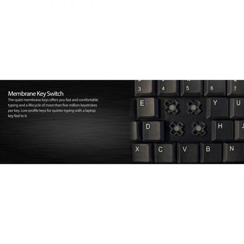Adesso AKB 410UB Slim Touch Mini Keyboard With Built In Touchpad Alternate-Image1/500
