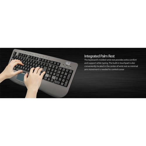 Adesso AKB 430UG Win Touch Pro Desktop Keyboard With Glidepoint Touchpad Alternate-Image1/500